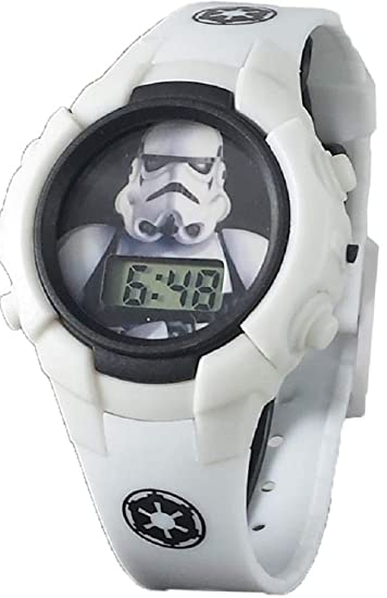 Disney Star Wars Stormtrooper - Reloj Digital para niño, Color Blanco: Amazon.es: Relojes
