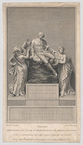 Art Print | James Stow | Shakespeare Seated Between the Dramatic Muse and the Genius of Painting, Who is Pointing Him Out as the Proper Subject for Her Pencil | -