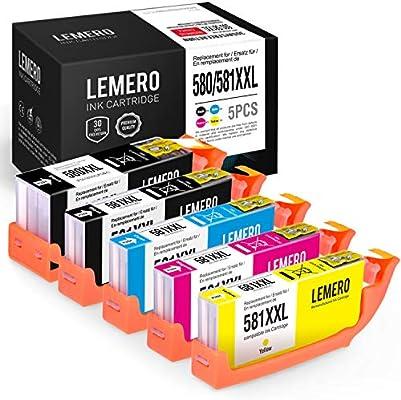 5 LEMERO Compatible PGI-580 CLI-581 XXL Cartuchos de Tinta para ...