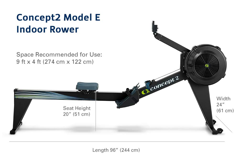 Concept 2 Model D >> Concept2 Model E Indoor Rower With Pm5 Black Amazon Co Uk Sports