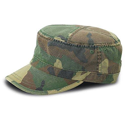 Vintage Fatigue BDU Flat Top Cap (Camoflage) (Vintage Military Fatigue Cap)