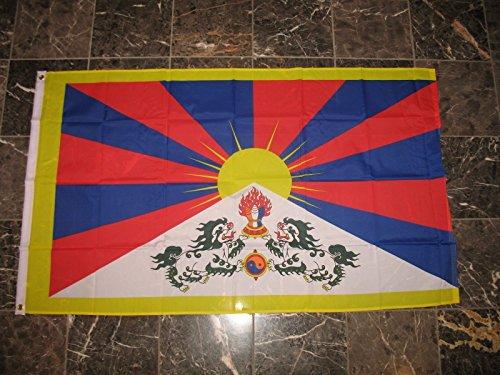 - 3X5 Tibet Chine Dalai Lama Tibetan Flag 3'X5' House Banner Grommets