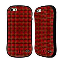Head Case Designs Red Green Plaid - Pattern Collection Hybrid Case for Apple iPhone 5 / 5s / SE