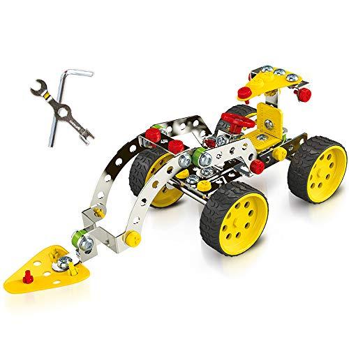 KAIM DIY Forklift Metal Model Building Kit Build and Play Toy Set STEM Learning Sets Erector Sets Kids Toys
