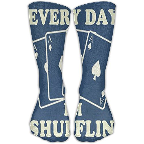 HXXUAN Thigh High Socks POKER Card Knee High Socks 30cm Stockings