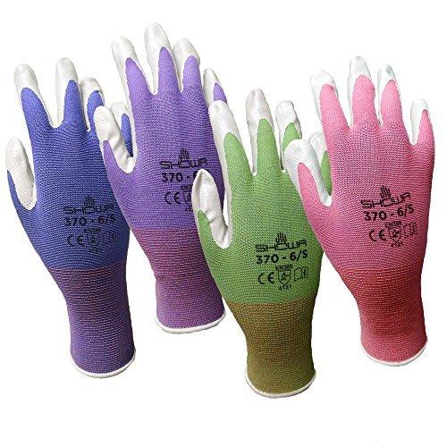 6 Pack Showa Atlas NT370 Atlas Nitrile Garden Gloves - Me...