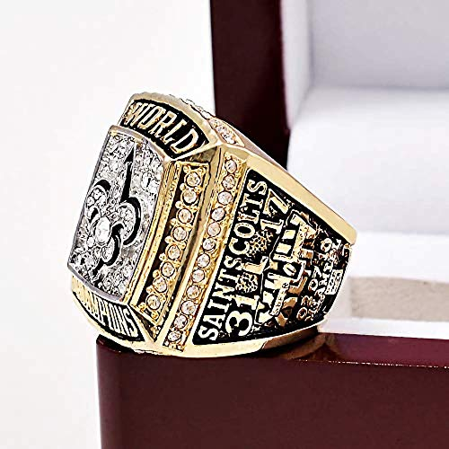 - 44th 2009 New Orleans Saints MVP Brees - Football World Championship Ring Size 11