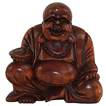Sun Du0027koh   Bouddha Rieur De La Fortune En Bois   10 Cm