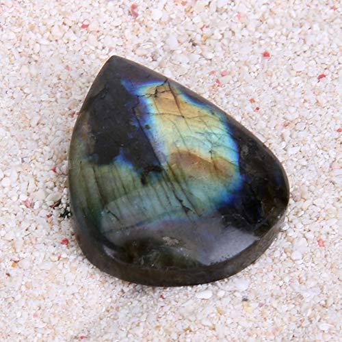 Pendant Rock - 1pc Natural Labradorite Stone Quartz Crystal Healing Mineral Rock Drop Shaped Pendants Crafts - Tetragonal Crystal For Watch Auras Labradorite Quartz Healing Minerals Cassiterite