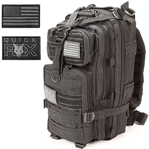 Best Military Tactical Backpack for Men, Black Survival Army Trekking Molle Bag- Bug Out Backpacks for Outdoor Hiking, Camping, Trekking, Range, Hunting, 3 Day Assault, Hydration, School, Day Pack ()
