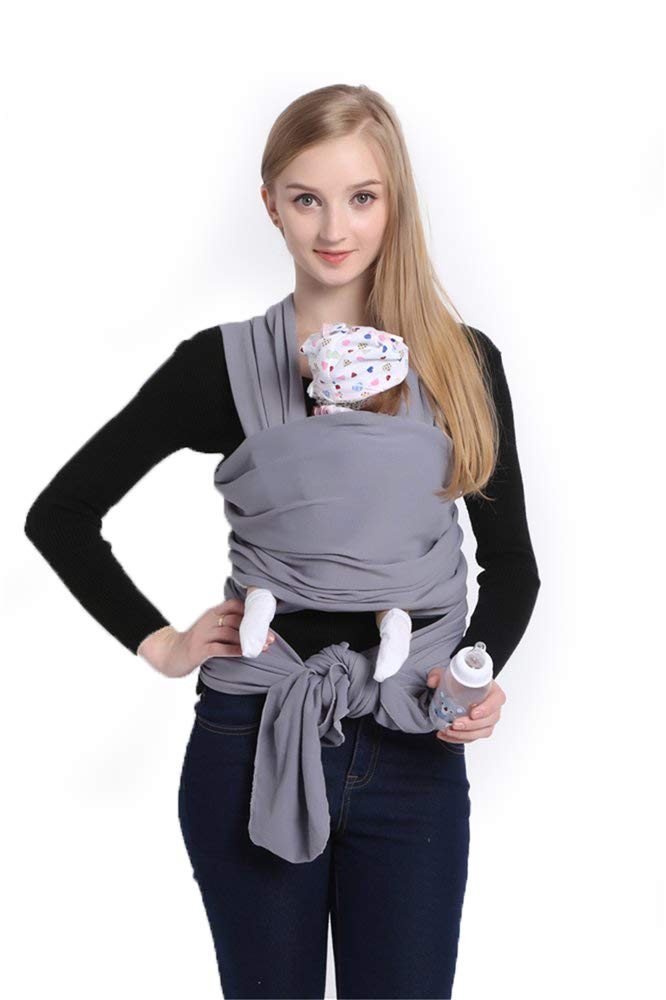 New 2019 release solly baby wrap,CUBY Breathable Soft Lightweight Cotton Cover Baby Wrap Carrier Baby Sling Nursing Cover (Grey)