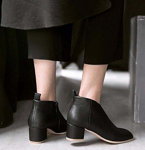 Shoes Mujer Zapatos Ol Botas Tamaño Chunkly de Color Tobillo 4 de 44 Chelsea 5cm Botas Pura de Tacón Punta Zipper vestir Botas 32 Casual zapatos Eu Encantador de White S Color Martin Corte Botas qSqwxFaH