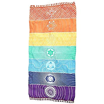 Amazon.com: Rainbow tapiz toalla de Yoga tapices Hippie ...