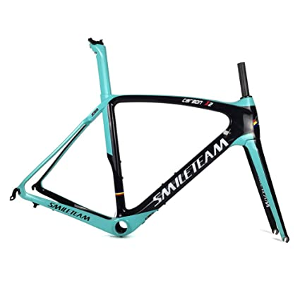 ac54a699889 Smileteam 2018 Full Carbon Road Bike Frame Racing Bicycle Carbon Frameset  with Fork + Seatpost +