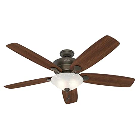 Hunter 60 Regalia New Bronze Ceiling Fan With Light Amazon Com
