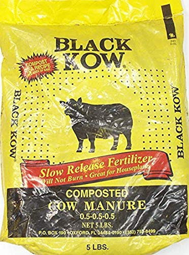 Black Kow Composted Cow Manure 5 pound bag (Best Manure For Roses)