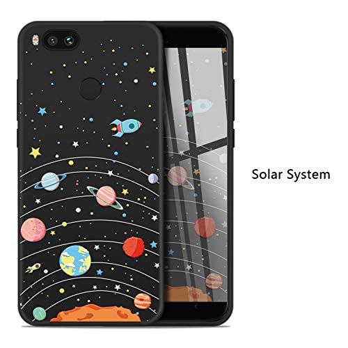Cartoon Case for Xiaomi Mi A1 Cute Silicone Case Cover Original 3D Relief Soft Fundas Capa for Redmi 5 Note 5 4X Pocophone,Solar System,for Mi A2 Lite ()