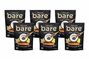 Bare Crunchy Chia Coconut Bites Gluten Free and Baked, Chia + Pineapple, 6 Count