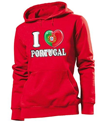 Love-All-My-Shirts - Sudadera con capucha - para mujer Rojo