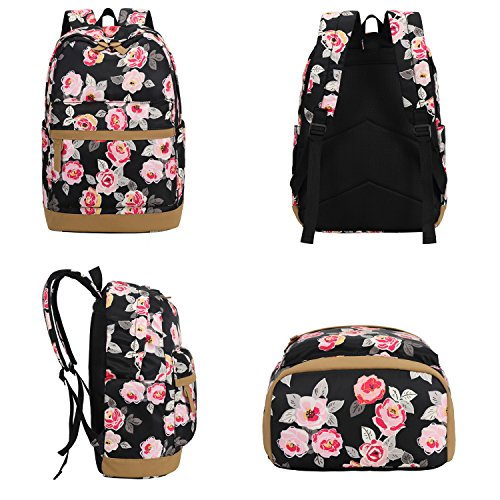 55a53e1981 BLUBOON Teens Backpack Set Girls Women School Bags