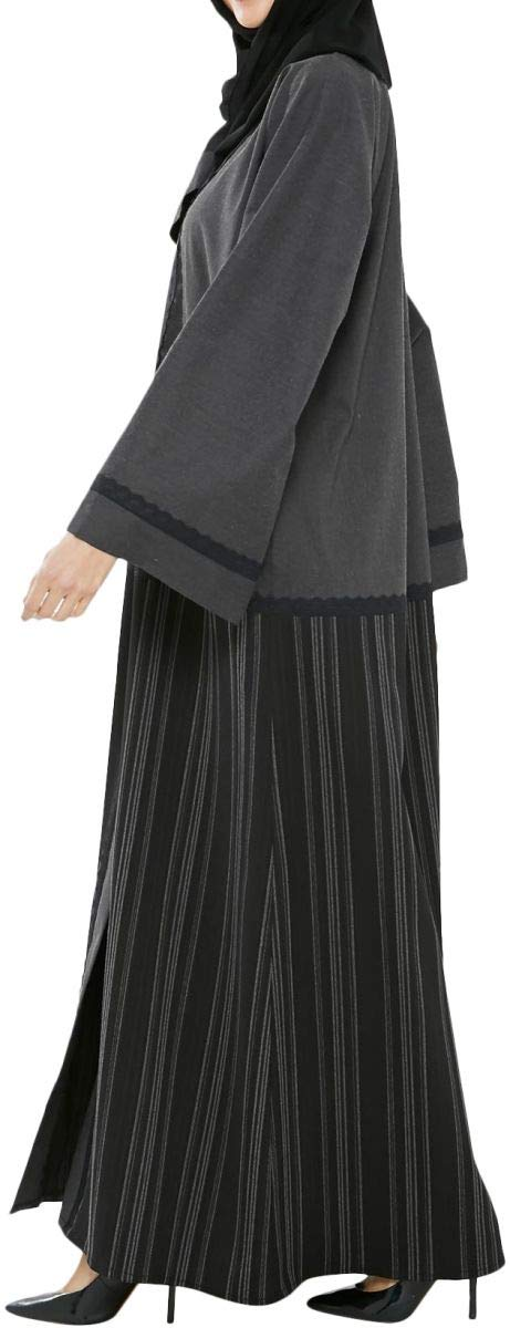 752b44f80 Arabeska Abaya For Women - M, Gray: Amazon.ae