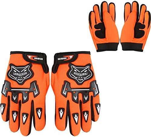 + Helmet /& Gloves M Leopard Kids Children Motorbike Motocross Set { CAMO Suit M + Goggles } Orange 51-52cm 7-8 Yrs