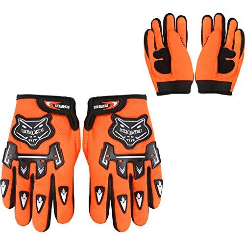 5-6 Yrs Leopard Kids Children Motorbike Motocross Set { CAMO Suit S + Goggles } Orange + Helmet /& Gloves L 53-54cm
