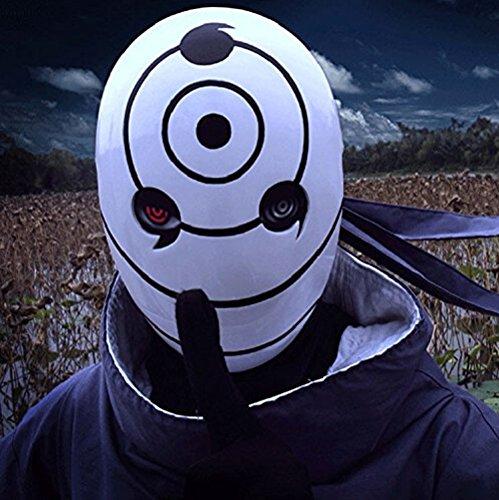 Resina Tobi casco Obito Naruto Uchiha Cosplay máscara de: Amazon.es: Hogar