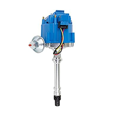 A-Team Performance Complete HEI Distributor 65K Coil 7500 RPM Compatible With Chevrolet Chevy GM GMC 4.3L 262 V6 EFI to Carb Swap 90° V-6 One-Wire Installation Blue Cap: Automotive