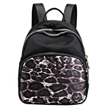 Excursion Sports Small Zipper Backpack for Women, Girls Floral Waterproof Student Shoulder Bag, Lightweight Street Travel Camping Satchel Schoolbag Daypacks