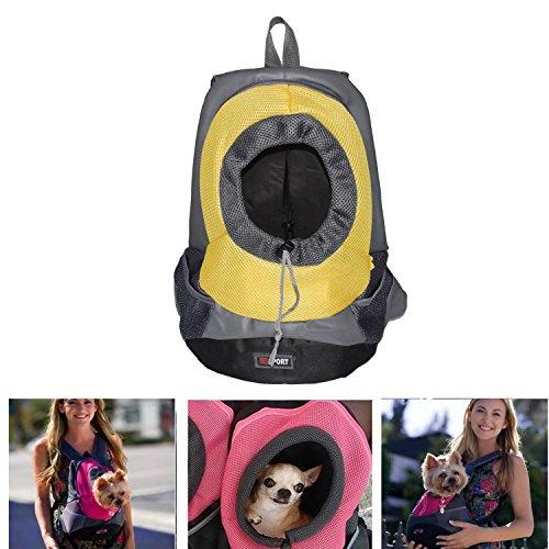 Pet Carrier ,Pashion Breathable Double Shoulder Dog Pet Puppy Bags Backpack Knapsack Cat Carrier Packsack Travelling Pet Holder Bag for Biking, Hiking, Trip, Shopping