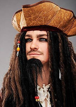 Magic Box Sombrero de Pirata de Estilo Jack Sparrow para Hombre con Cuentas