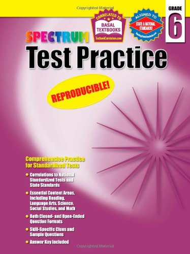 Amazon.com: Spectrum Test Practice, Grade 6 (9781577689768 ...