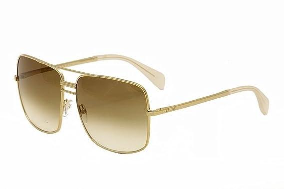 61fe3cc082 Celine Women s 41808S 41808 S J5G XY Gold Smoke Flash Silver Lenses  Sunglasses