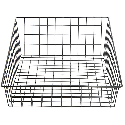 Wire Bagel Basket Rectangular Black - 14