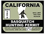 Sasquatch Hunting Permit - CALIFORNIA (Bumper Sticker)