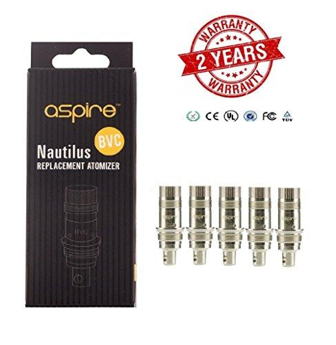 Nautilus 5er Pack BVC Vertikal-Dual-Coil Aspire (1.8 Ohm)