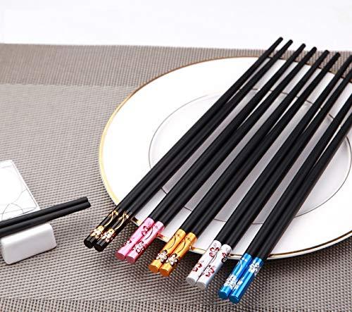 Iktu Beautiful Sushi Japanese/Chinese Chopsticks Set Black Reusable Glass Fiber Chop Sticks – 5 Pairs Price & Reviews