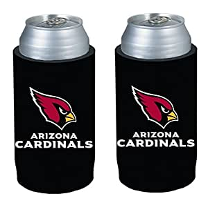 NFL 2013 Football Ultra Slim Beer Can Holder Koozie 2-Pack - Pick your team (Arizona Cardinals)