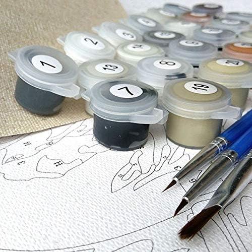 WSKZZ DIY Pintura al óleo Digital Pintura Digital Kit Digital Pintura Hecha a Mano decoración del hogar Pintura Lienzo Pintura al óleo - Tigre Animal 50x70cm