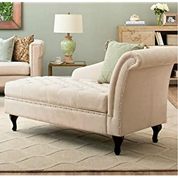 Amazon.com: Storage Chaise Lounge Luxurious Tufted Classic ...