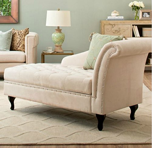 Elegant Amazon.com: Traditional Storage Chaise Lounge   This Luxurious Lounger W/  Tufted Cushions Is A Great Addition To Your Home, Living Room, Or Bedroom   Made Of ...