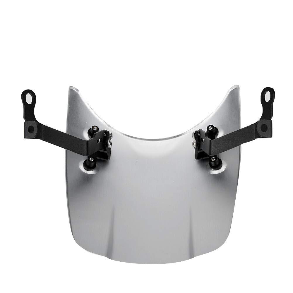 pare-brise en aluminium de moto pour pi/èces de moto BMW R nine T 2014-2017. 1 PC de pare-brise Couleur : Argent D/éflecteur de vent