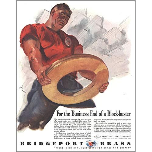 - RelicPaper 1944 Bridgeport Brass: Business End of a Block Buster, Bridgeport Brass Print Ad