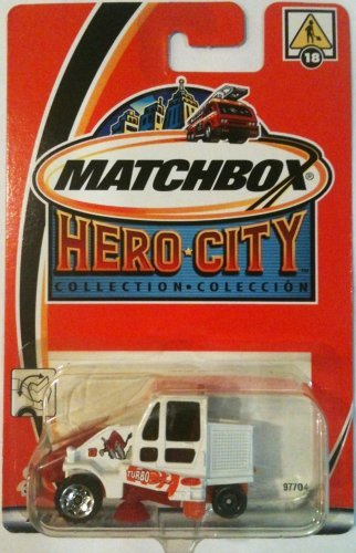STREET SWEEPER Matchbox 2002 Hero City Series Street Sweeper Cleaner 1:64 Scale Collectible Die Cast Metal Toy Car Model #18