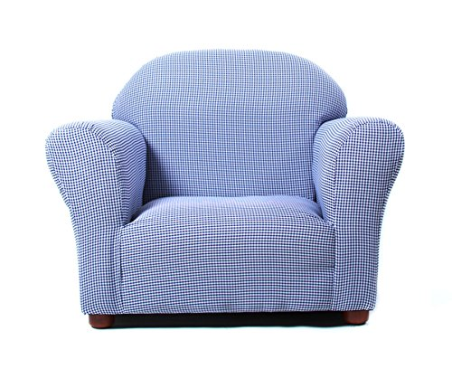 Adult Sized Rocking Chair - KEET Roundy Kid's Chair Gingham, Navy