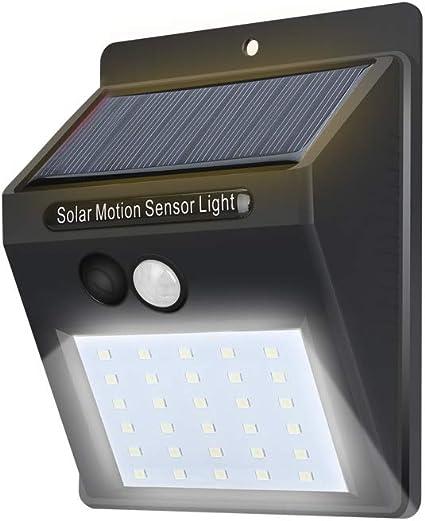 Deanyi Lampes solaires extérieur 30 LED Lampes solaires extérieur sans Fil Lampes de sécurité du capteur de mouvements étanches pour Porte Noir (Batterie Incluse) Produits pour Maison/Cuisine