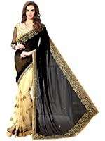 Saree Centre Women's Embroidered Georgette Saree With Blouse Material For Party wear,Wedding,Casual sarees
