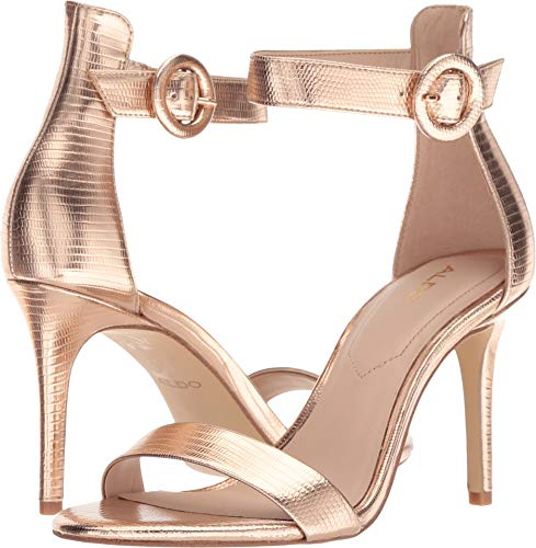 ALDO Women's YENALIA Sandal, Metallic Miscellaneous, 8 B US