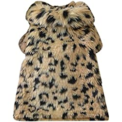Puppy Clothes,Haoricu Woolen Dog Coat Leopard Printed Chiens Pet Clothes Dog Cat Clothing Luxury Coat Pet wadded jacket Gift Custome (XS, Brown)